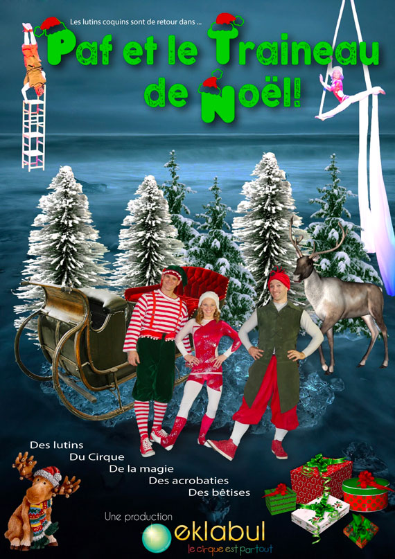 Paf & le traîneau de Noël - spectacle enfant - Eklabul