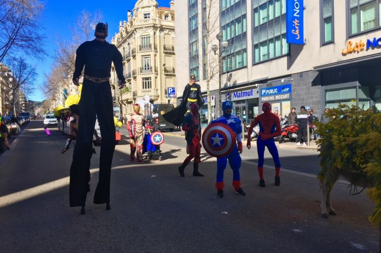A superhero carnival in Cannes